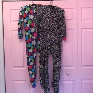 Other - Two pair onsie zip up pajamas